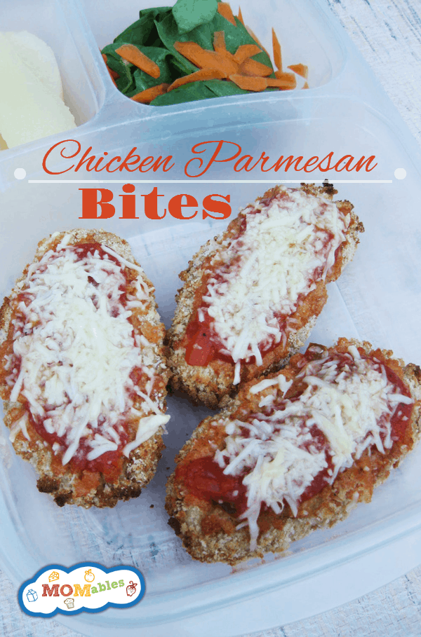 Chicken Parmesan Bites Recipe Easy! Via MOMables.com