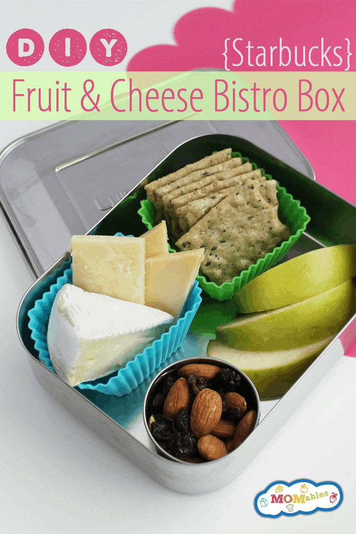 DIY Starbucks Fruit and Cheese Bistro Box