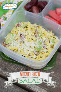 Avocado, Bacon, and Parm Pasta