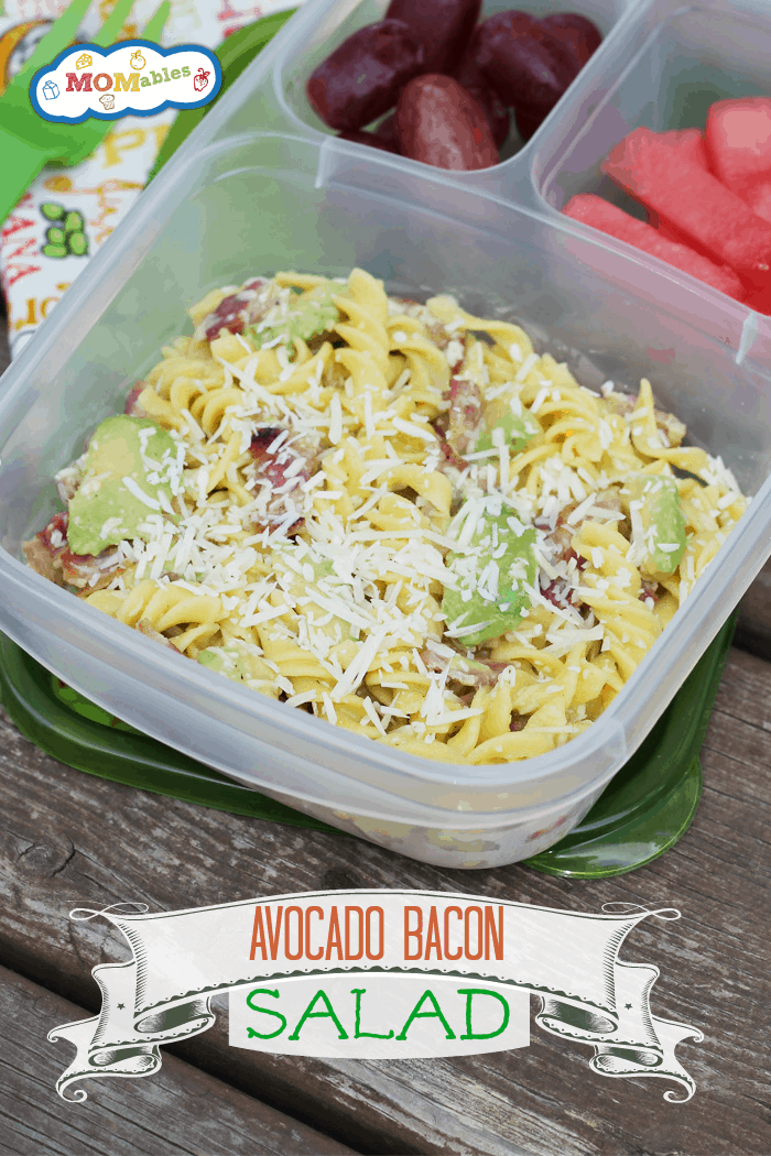 Avocado, Bacon, & Parmesan Pasta - MOMables.com