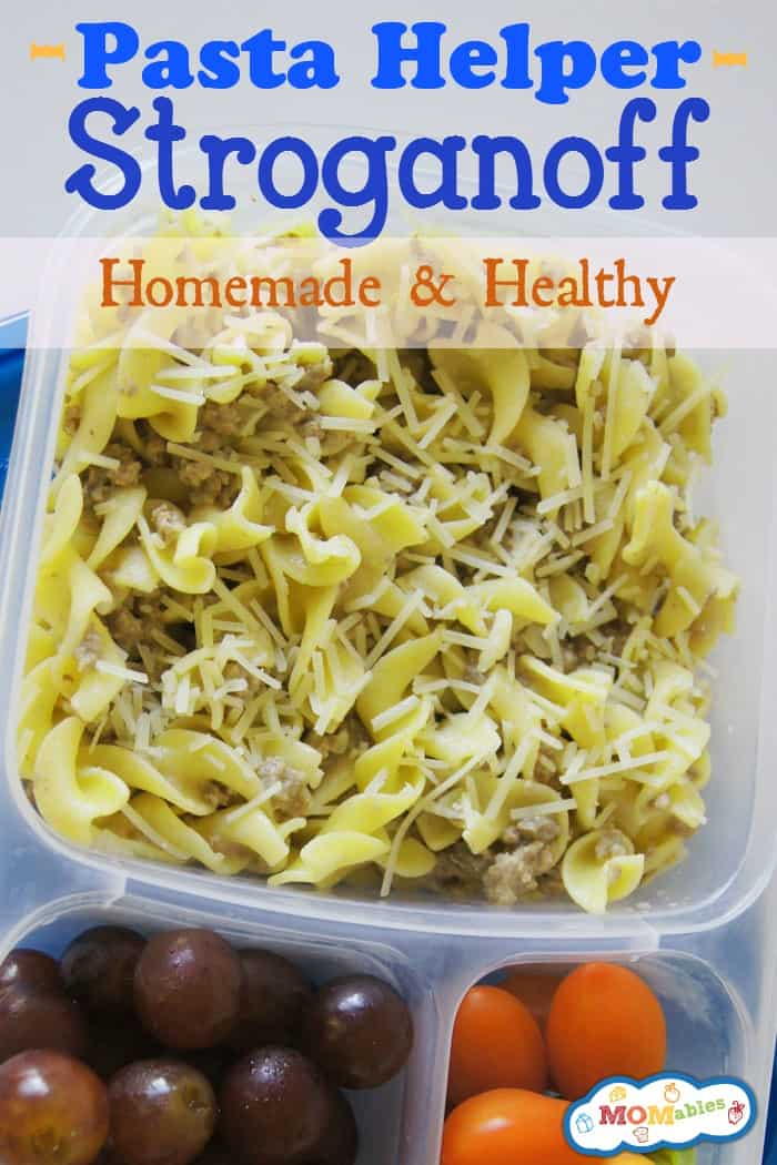 Homemade Pasta Helper Stroganoff Recipe via MOMables.com