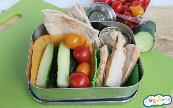 Chicken and Hummus Bistro Box via MOMablds