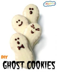 Halloween Ghost Cookies homemade or store bought recipe