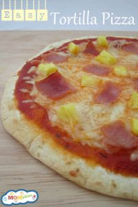Easy Tortilla Pizza