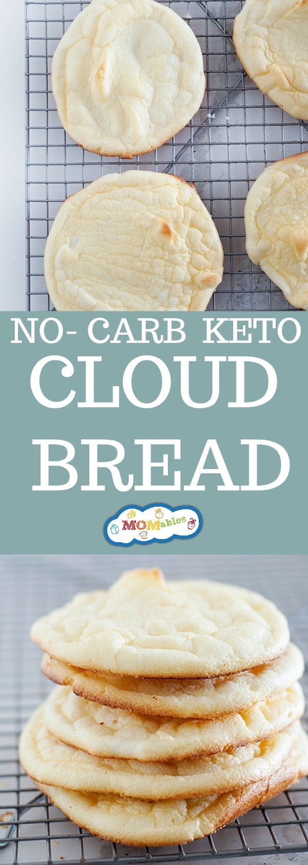 No carb, gluten-free, and full of fluffy texture, this cloud bread is going to blow your taste buds. Also, the perfect substitute for bread.
