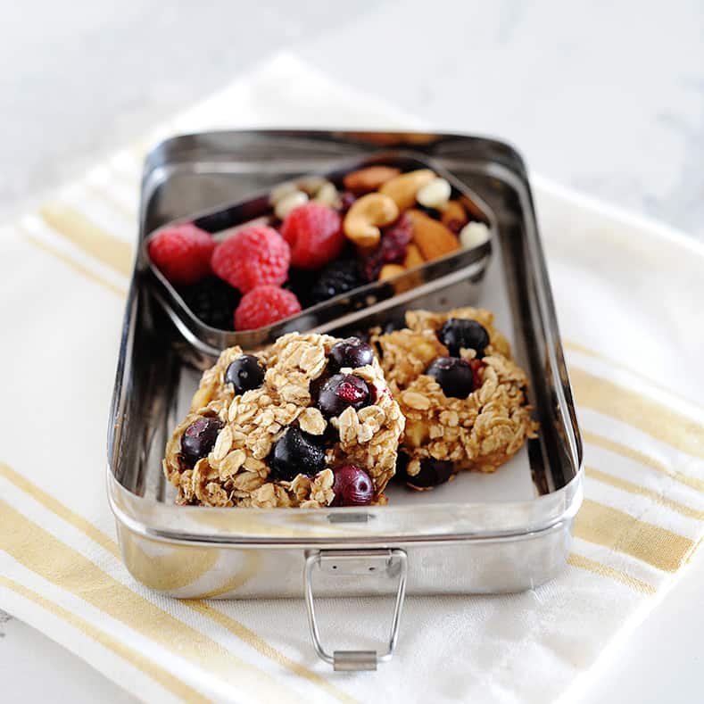 These Blueberry Breakfast Cookies are healthy, yummy and perfect for busy mornings! With no added sugars and naturally gluten-free, this breakfast cookie is a one-bowl wonder.