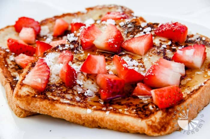 eggless french toast horizontal