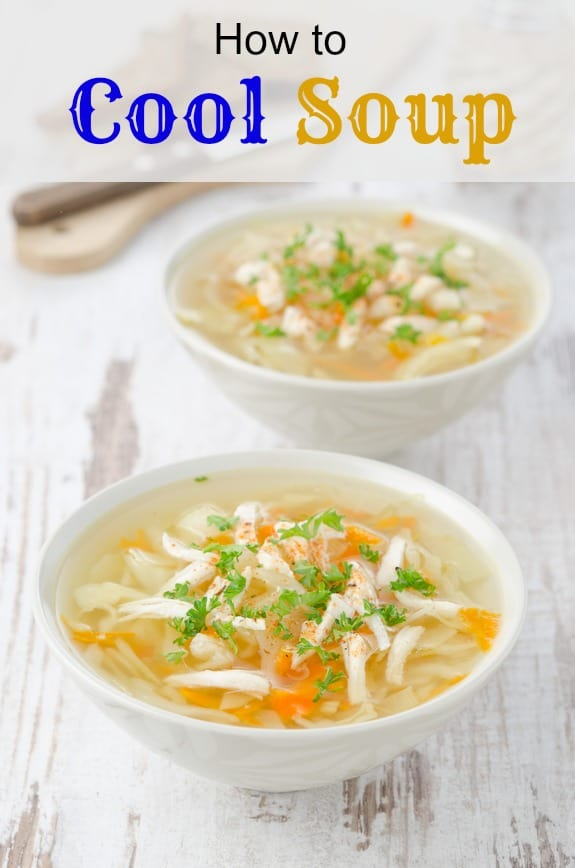 How to cool soup