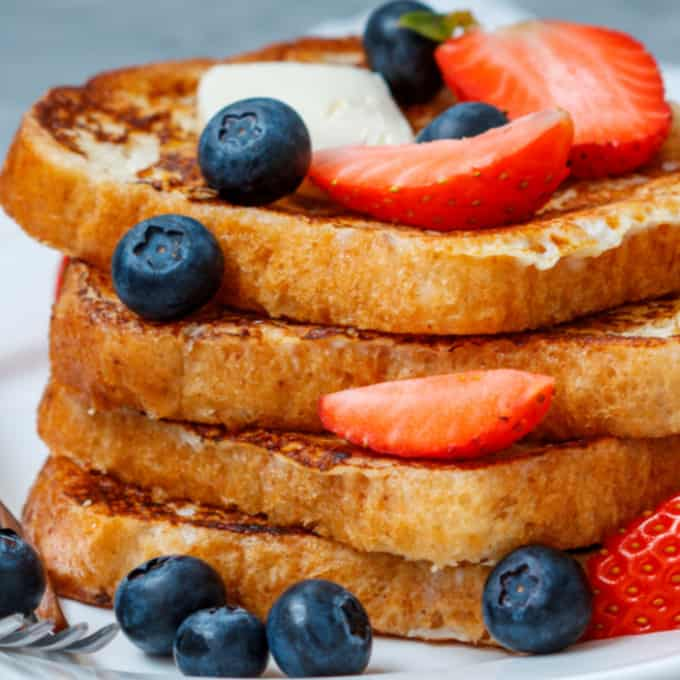 image: stack of eggless french toast
