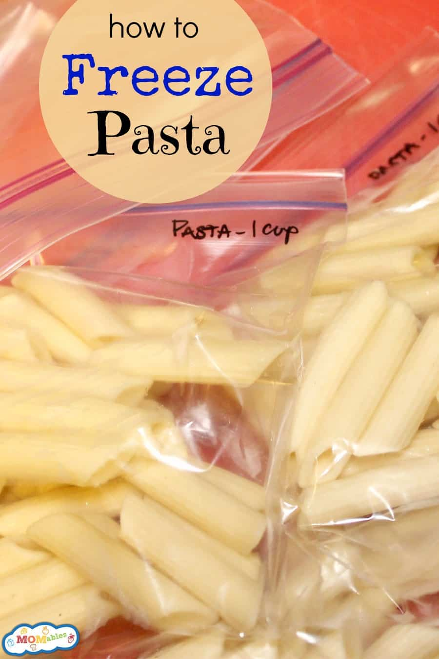 how to freeze pasta