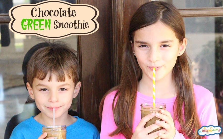 "chocolate green smoothie kids will LOVE! I know it seems too good to believe it... but it has zero ""green"" taste!"
