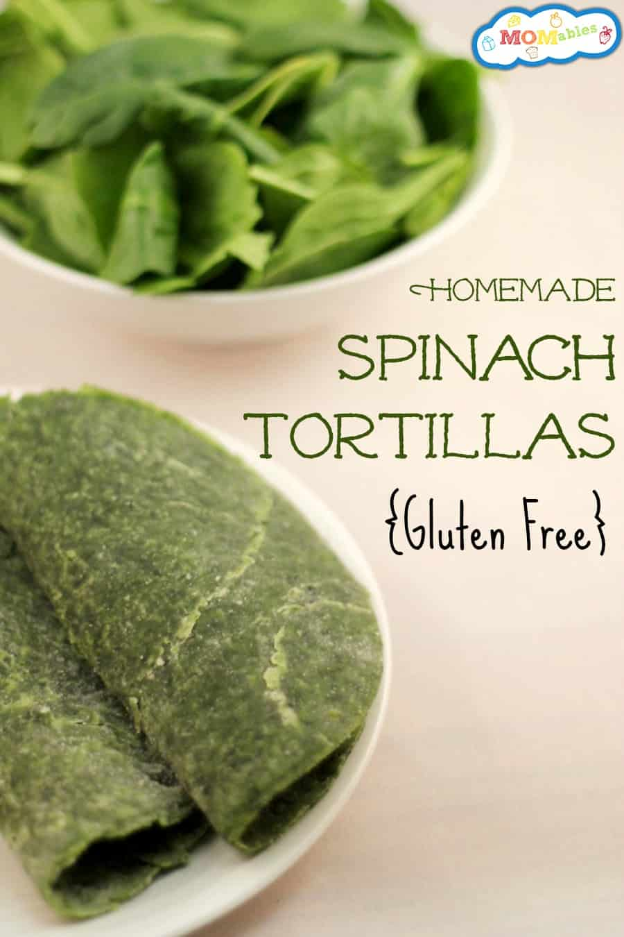 your gluten free tortillas just got better with this easy homemade spinach tortilla recipe!