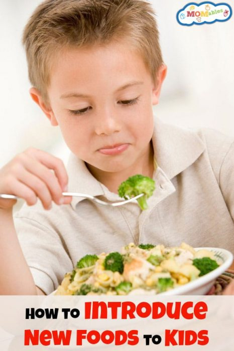 how to introduce new foods to kids