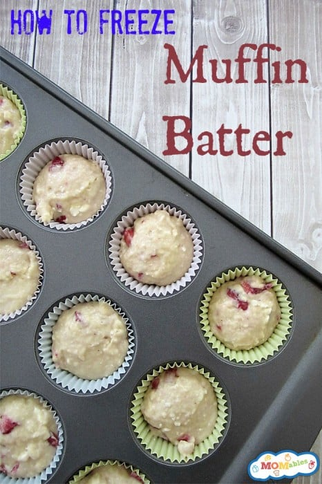how to freeze muffin batter