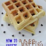 how to freeze waffles
