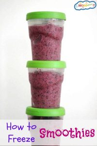 how to freeze smoothies