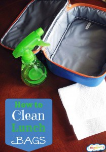 how to clean lunch bags