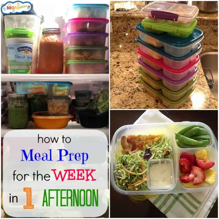 how to meal prep for the week in one afternoon