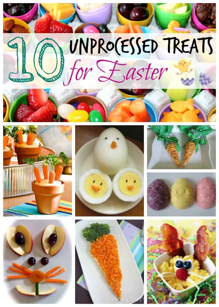 Unprocessed Easter Treats And Snacks