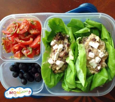 Hummus and kalamata olive lettuce wraps