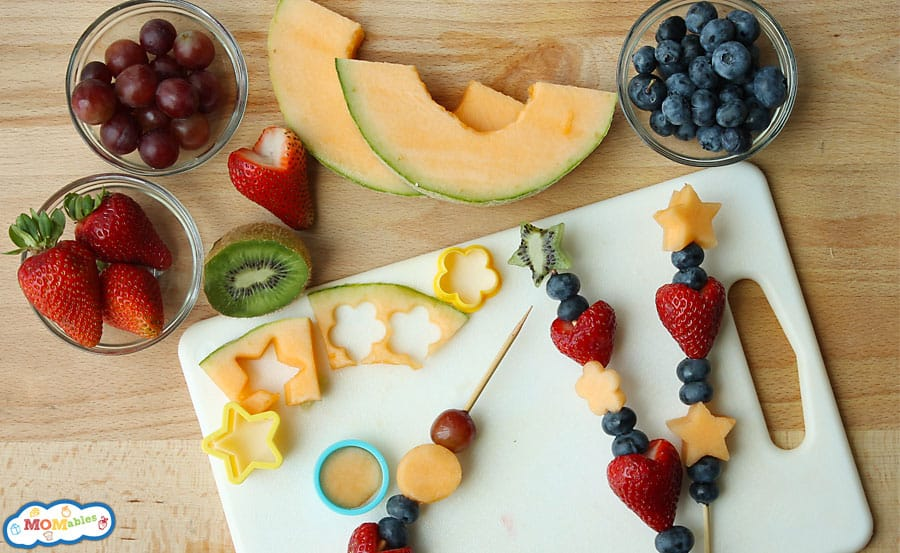 how to make fruit skewers