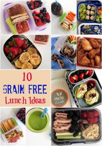 10 Grain Free school Lunch Ideas that are easy to make and kids will love!