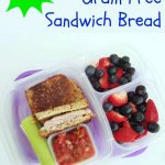Easy Grain free sandwich bread so easy to make it's done in your blender! It's the perfect bread for school lunches!