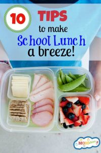 10 Tips to make School Lunch a Breeze
