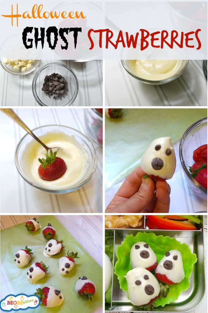 halloween ghost strawberries