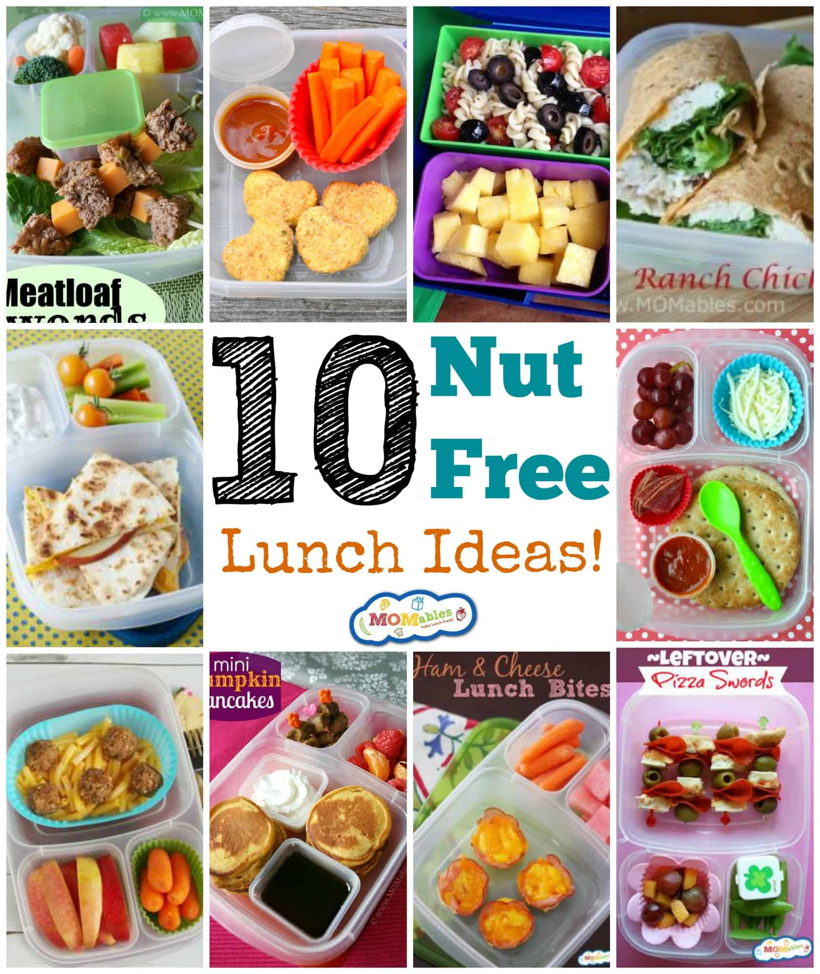 10 nut free lunch ideas