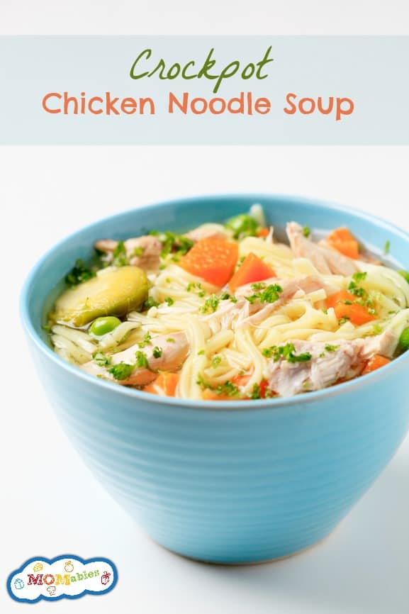 Easy Crockpot Chicken Noodle Soup