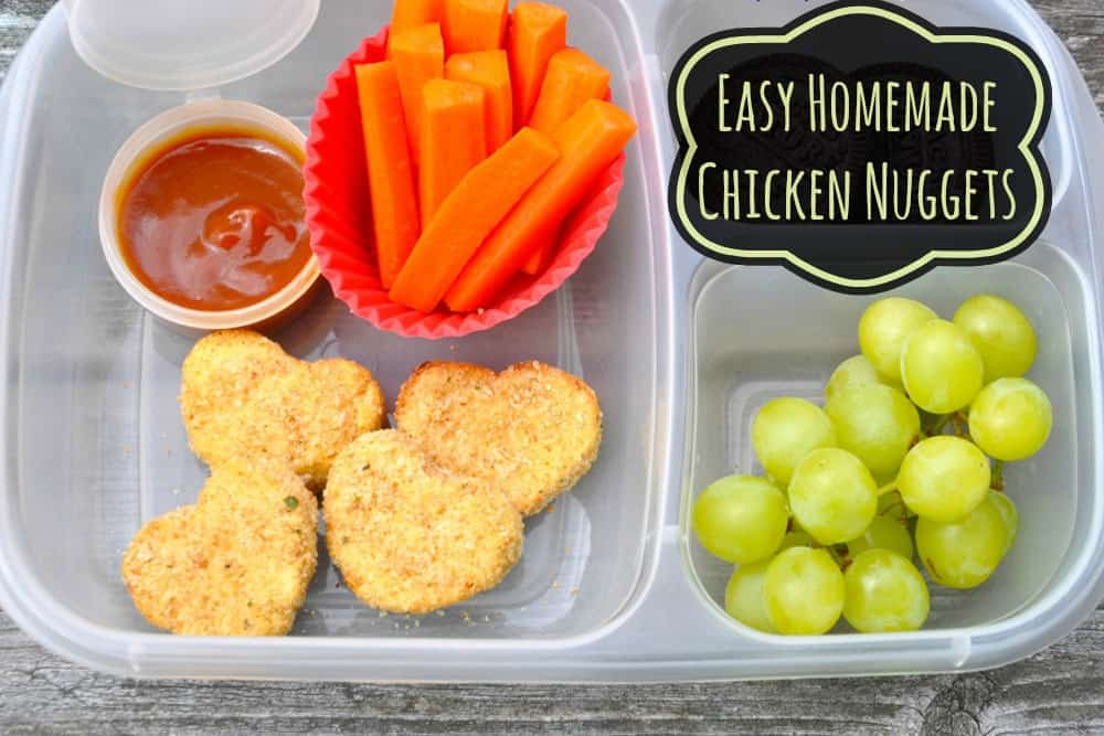 easy homemade chicken nuggets recipe that kids love. can be made gluten free same texture as the frozen ones!