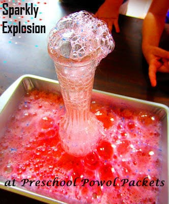 Sparkly Expolsion Science Experiment