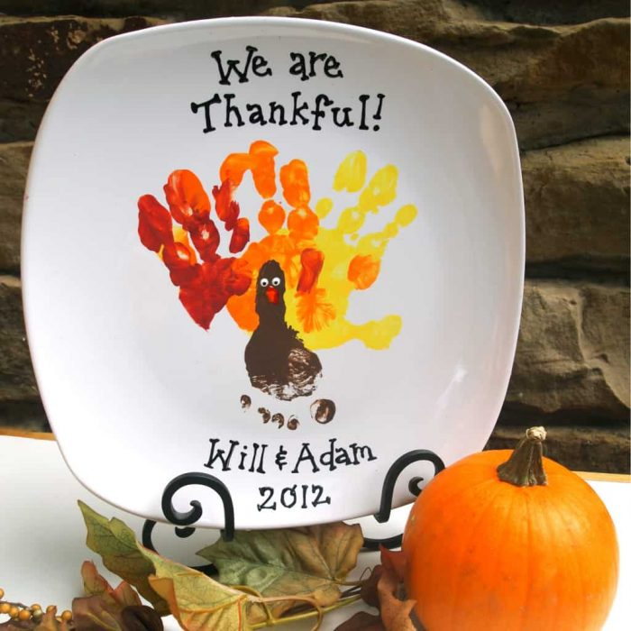 DIY Thanksgiving Plate Keepsake