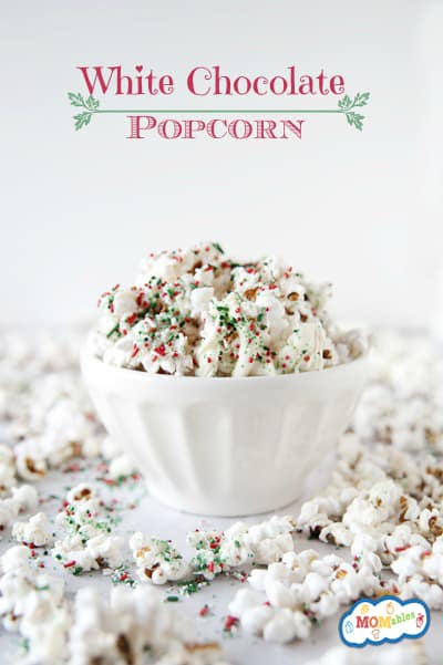White Chocolate Popcorn from MOMables