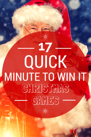 17-Quick-Minute-To-Win-It-Christmas-Games kids will love to play!
