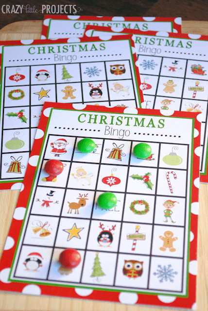 play christmas bingo with the kids to keep them entertained this holiday season!