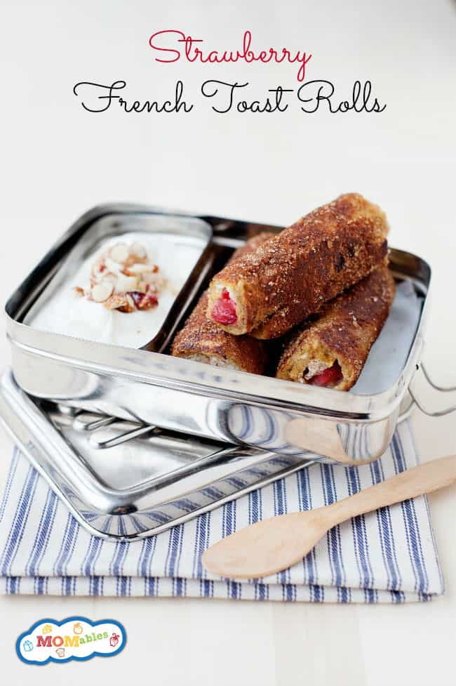 These delicious strawberry filled French Toast Roll Up  are perfect for the not-so-fresh-bread leftover from the week!