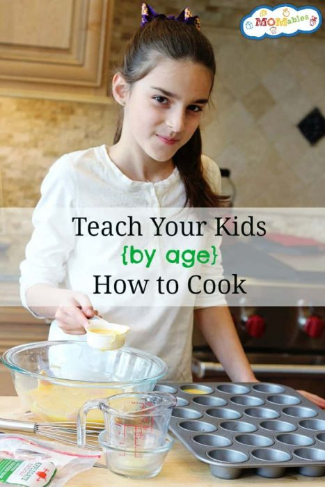 Teach Your Kids How to Cook by Age