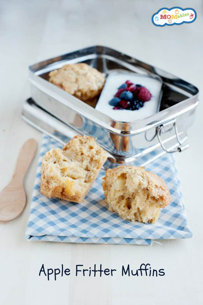 Full of the classic apple fritter flavors baked right into a muffin!