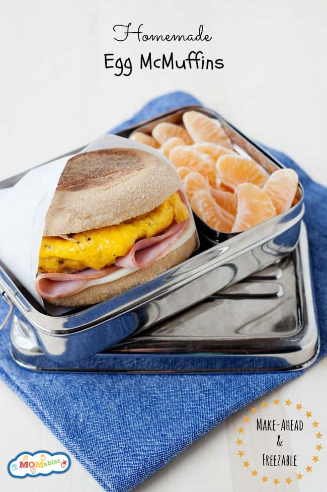 easy to make egg mcmuffins that are freezable and can be made in a large batch!