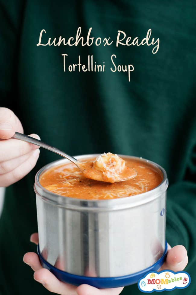 delicious tortellini soup in a thermos for a hearty school lunch