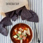 easy to make vegetarian enchilada soup! Leftovers make a great thermos lunch!