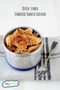 Creamy Sun Dried Tomato Chicken and Pasta Skillet Meal