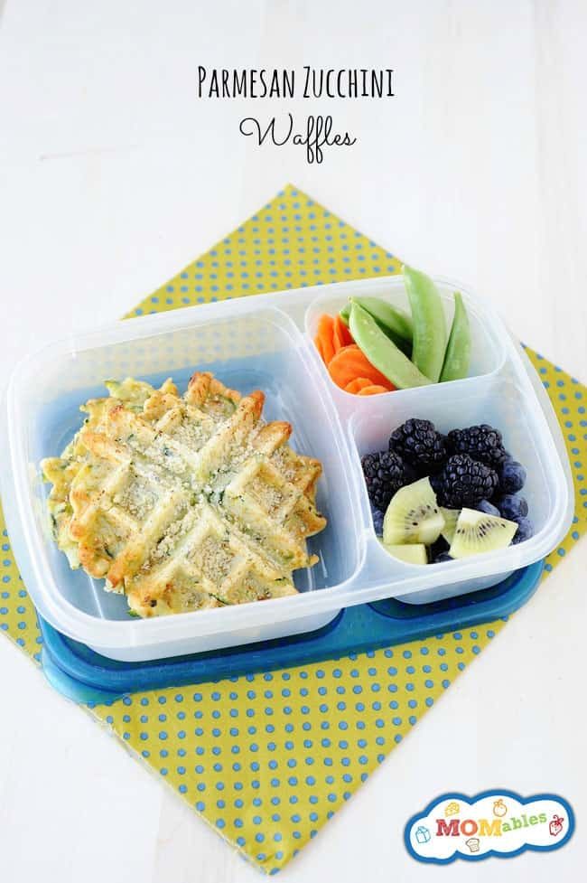 these zucchini parmesan waffles are great for dinner or a delicious healthy school lunch!
