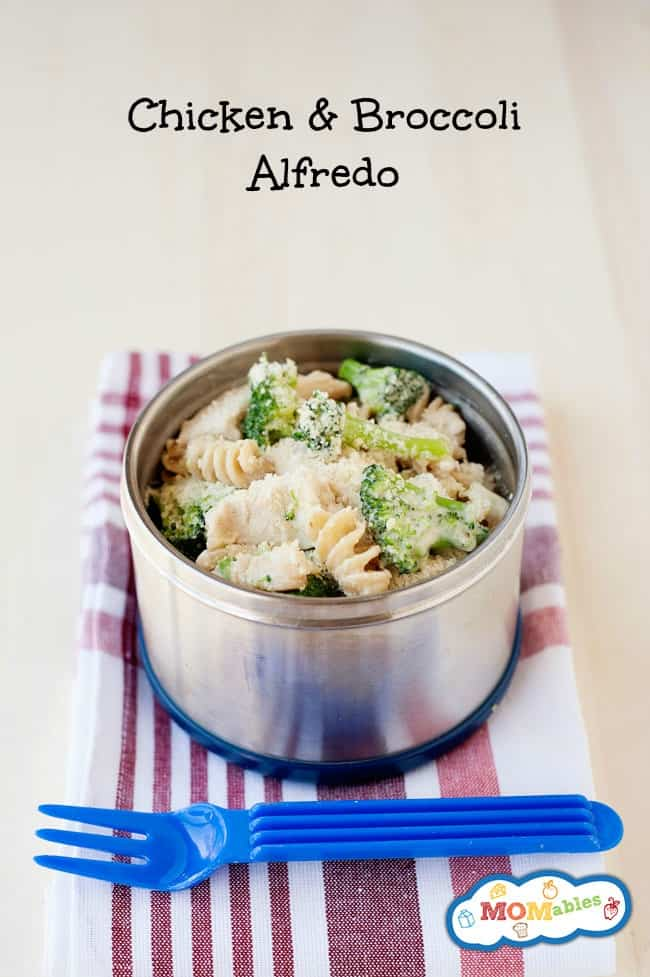 Chicken and Broccoli Alfredo - MOMables.com