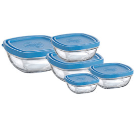 set of 5 square bowls