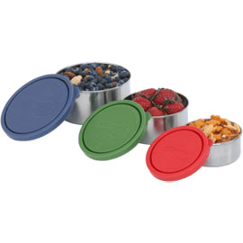 nesting trio stainless steel containers