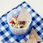 7 Layer Greek Dip packed for a healthy school lunch!