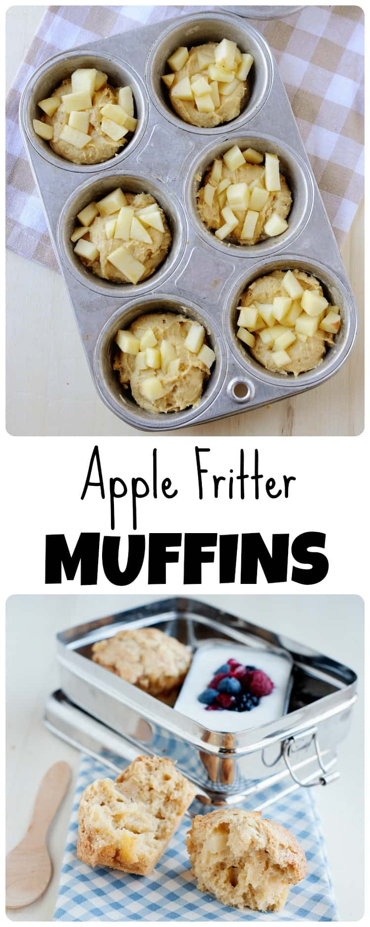 These baked apple fritter muffins will be devoured by kids and adults alike! They are much healthier than the original & filled with the same classic taste.